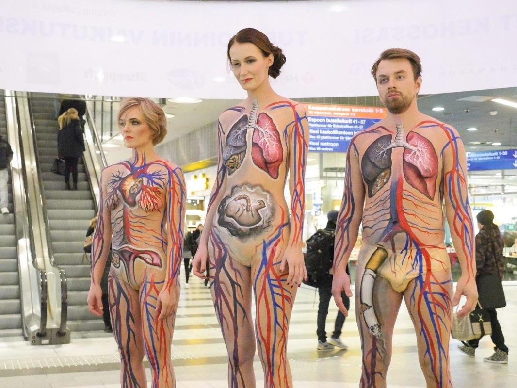 Male Body Paint Before And After body painting in marketing ...