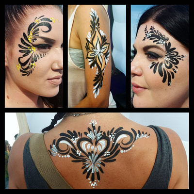 Quick body painted skin decorations at Weekend Festival | Artist: Riina Laine
