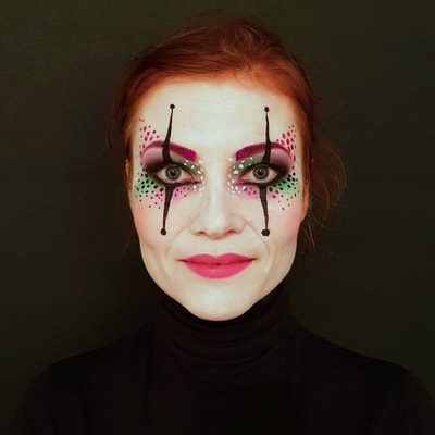 Circus ballerina make-up | Face painting & photo: Riina Laine