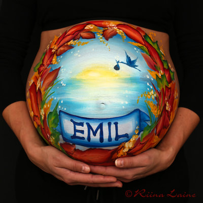 Belly painting & photo: Riina Laine