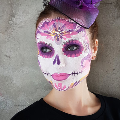 Sugar skull make-up | Face painting & photo: Riina Laine