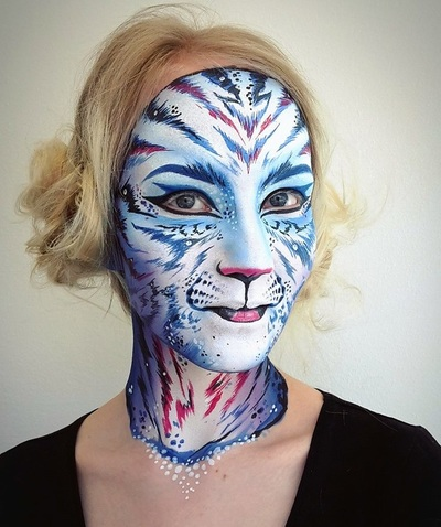 Tiger Face painting: Riina Laine