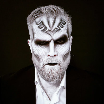 White walker inspired make-up for Halloween | Face art & photo: Riina Laine