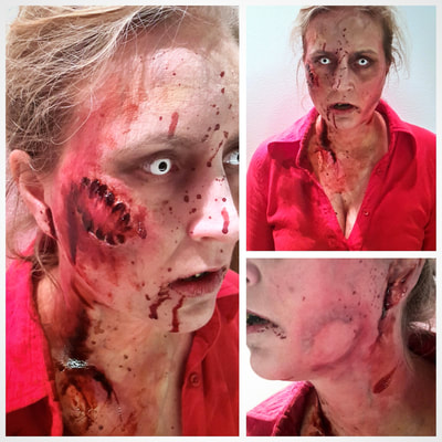 Zombie make-up for Halloween at Casino Helsinki | Face art & photo: Riina Laine